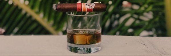 cigar and bourbon